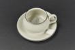 Tea cup on a dish