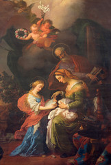 Vienna - Paint of little Vigin an st. Joachim and Ann