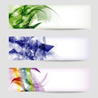 set colored abstract banner