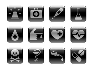 Medical Icons. Icon set on the theme of medicine and health