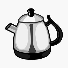 teakettle isolated illustration