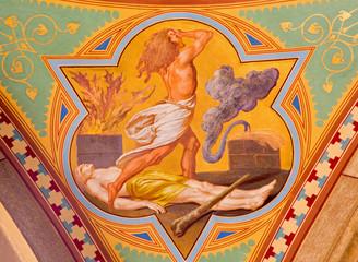Vienna - Fresco of killing of Abel scene