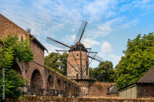 canvas print picture Windmühle in Zons