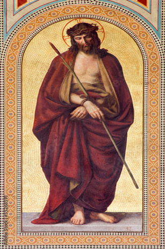 Vienna - Fresco of Jesus Christ for the Pilatus