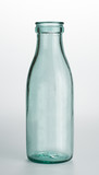 Milk bottle, empty. Isolated with clipping path