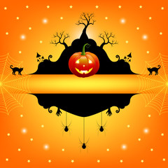 Halloween frame for text. Vector illustration.