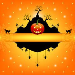 Halloween frame for text. Vector illustration.