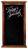 Wooden Picture Frame Chalkboard Blackboard Used As Today`s Speci