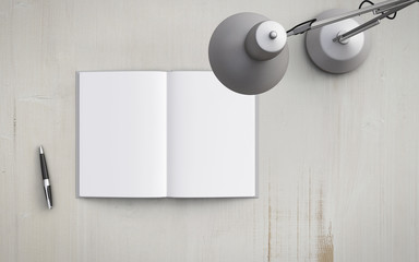 book and  lamp