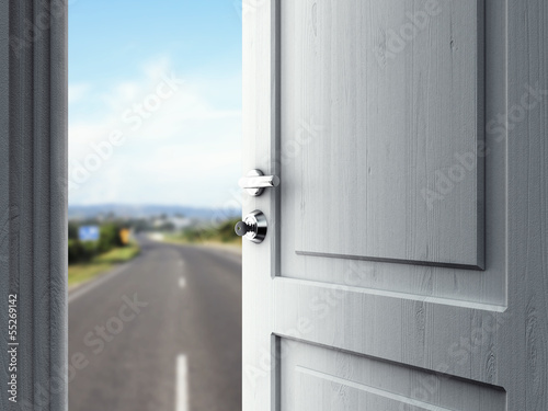 door in road