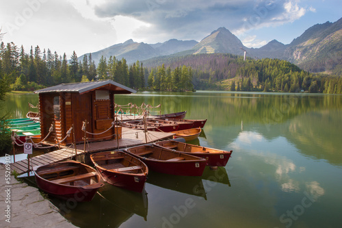 High Tatras - Strbske lake and the boats