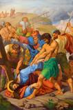 Vienna - Jesus fall under cross.