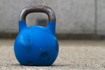 Kettlebell used for crossfit training