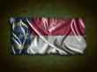 Vintage North Carolina flag.