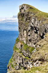 Mountain landscape in Skuvoy in the Faroe Islands