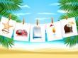 Фото, иконки на берегу моря