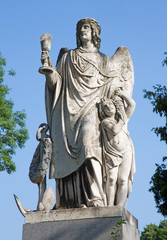 Vienna - Angel of the hope with the eucharist.