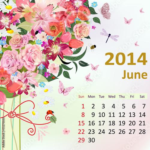 2014年日历; 富贵牡丹;