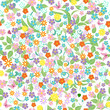 Cute seamless floral texture