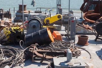 shipboard of old excavator