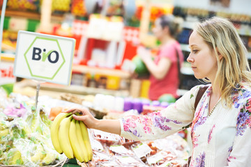 woman at food shopping in store
