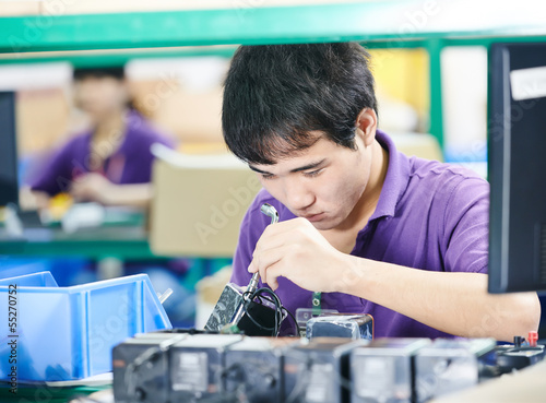 chinese worker at manufacturing