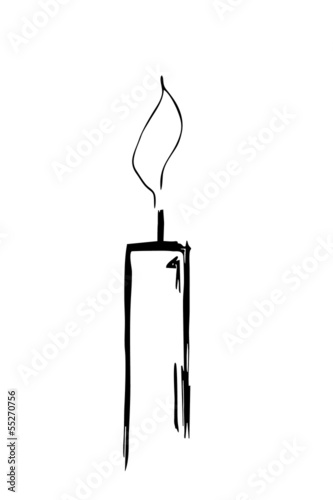 einfache Kerzensilhouette...