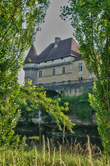 Perigord, renaissance castle of Losse in Dordogne
