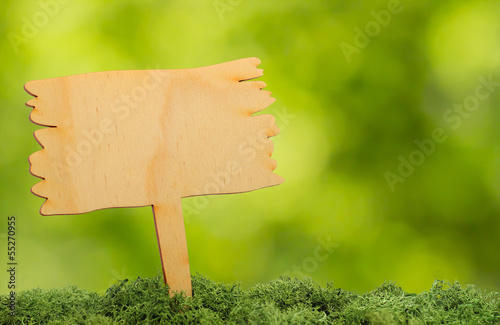 wooden board in nature with free copyspace