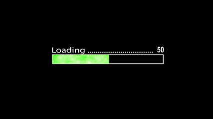 Loading bar green