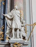 Vienna - Statue of king David - hurch Maria Treu.