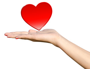 Young Girl Handing Love Heart