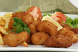 breaded scampi and chips - 55272797