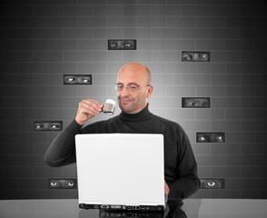 Computer espionage concept