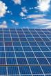 Solarzellen, Himmel und Sonne
