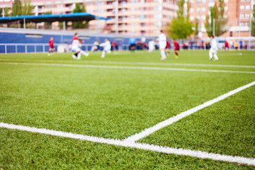 Soccer Field's Lines and Players
