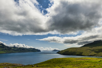 Landscape in Vestmannasund in the Faroe Islands