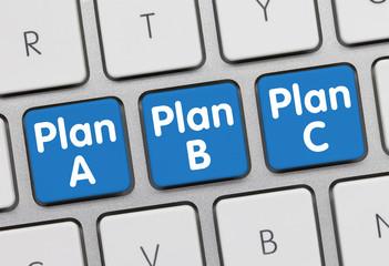 Tastatur Plan A, Plan B, Plan C