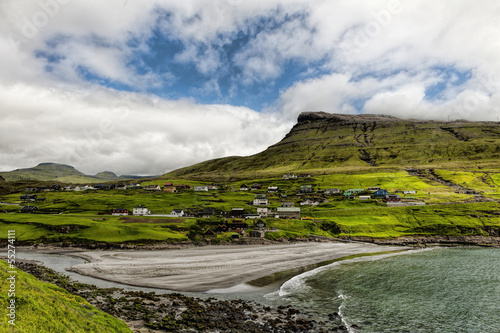 The village Leynar in the Faroe Islands