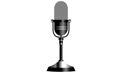 Retro Radio Microphone, On Air