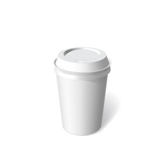 paper cup blank template vector