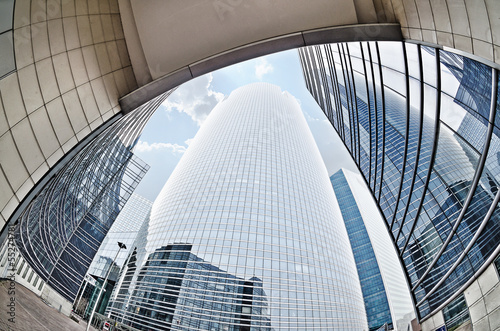 Modern architecture in the business district of La Defense, Pari
