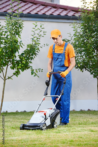 lawn mower worker