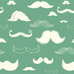 Green Mustache Background