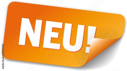 aufkleber neu orange als aufkleber drucken und berechnen 55275515. Black Bedroom Furniture Sets. Home Design Ideas