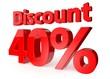 40 percent discount, 3d