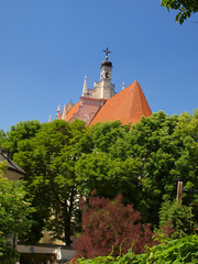 view from the hill of three crosses of the old historic town of