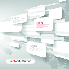 Futuristic 3D Text Board Background