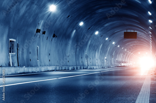 Abstract car in the tunnel trajectory - 55276915