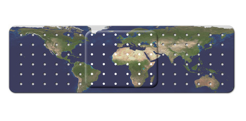 Bandage with Earth Map